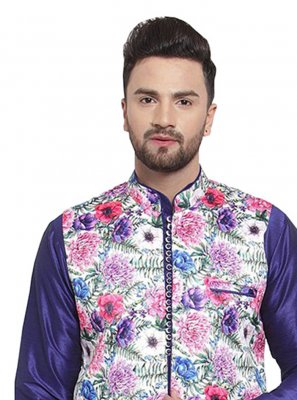 Multi Colour Satin Ceremonial Nehru Jackets