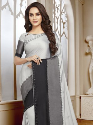Multi Colour Satin Classic Designer Saree