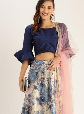 Multi Colour Satin Silk Trendy Lehenga Choli