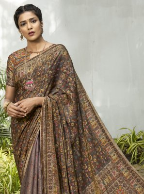 Multi Colour Silk Ceremonial Designer Traditional Saree