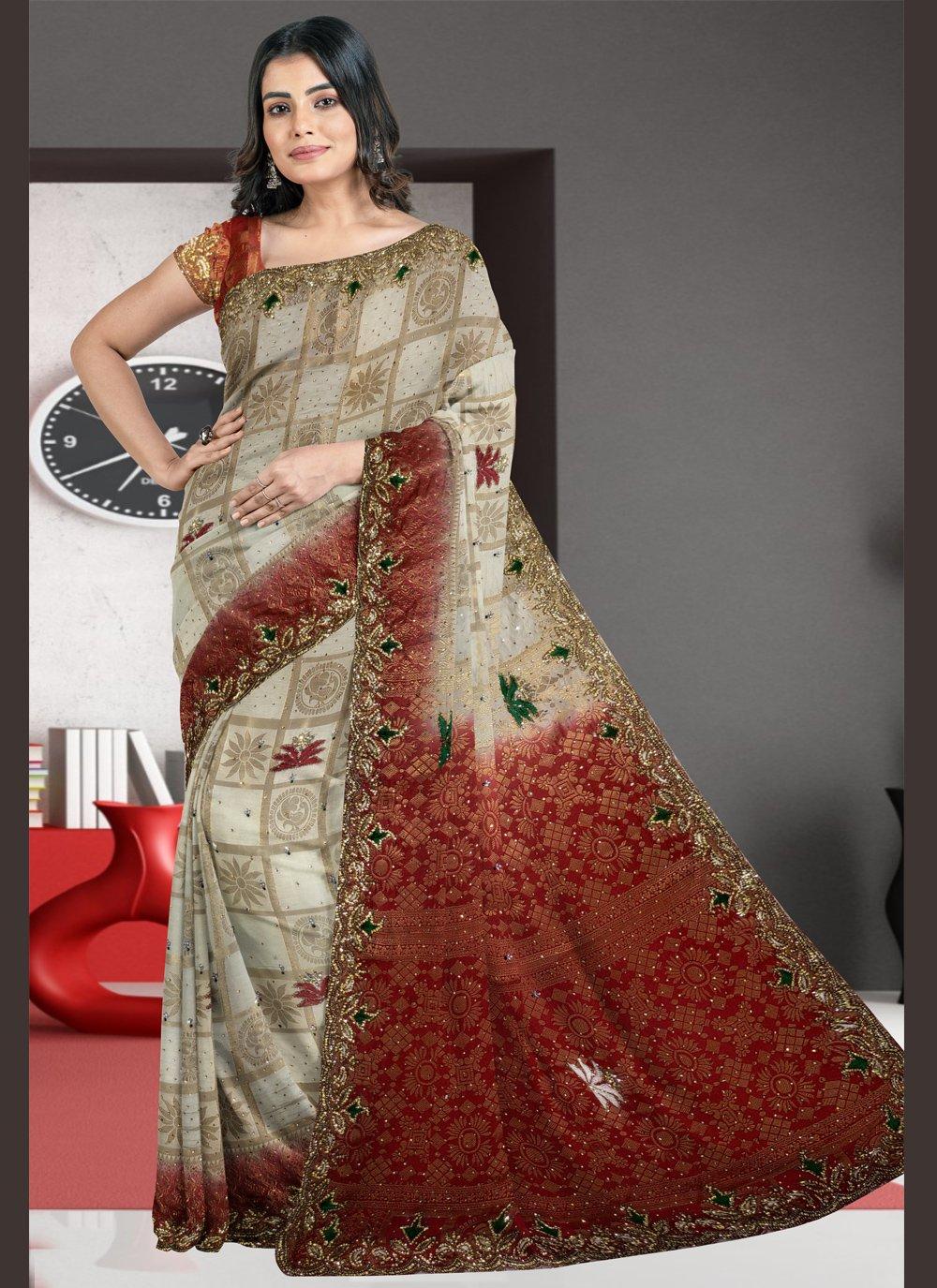 Multi Colour Silk Designer Traditional Saree