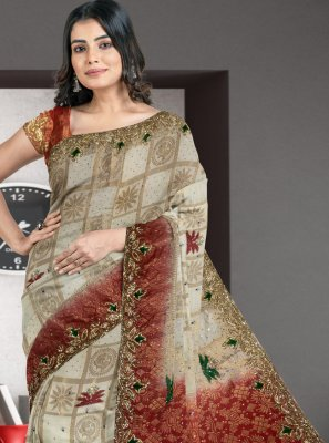 Multi Colour Silk Designer Traditional Saree