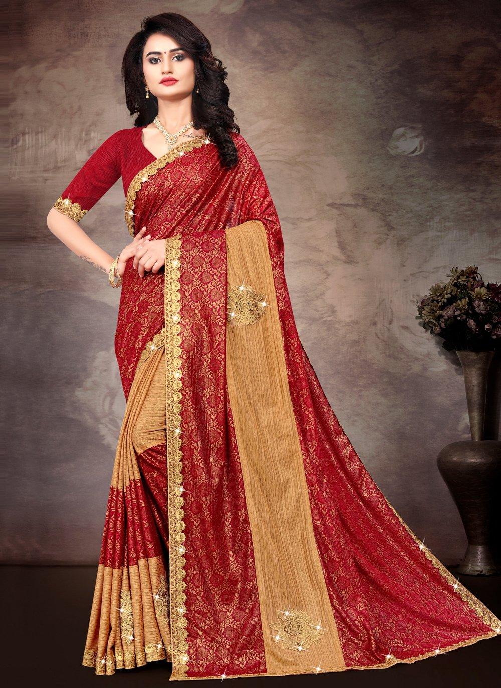Multi Colour Silk Party Classic Saree