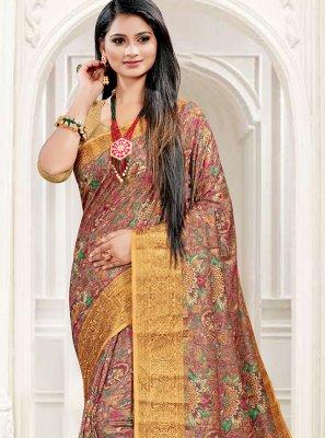 Multi Colour South Cotton Festival Printed Saree