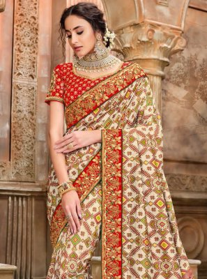 Multi Colour Traditional Saree