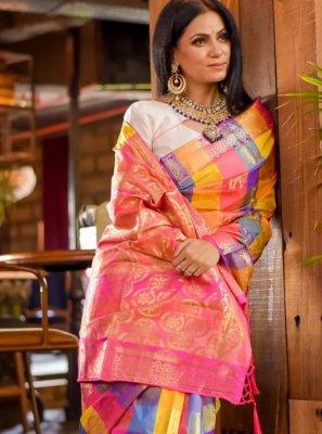Multi Colour Trendy Saree