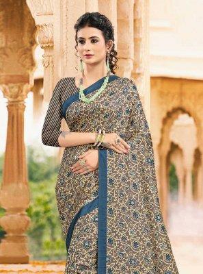 Multi Colour Tussar Silk Digital Print Printed Saree
