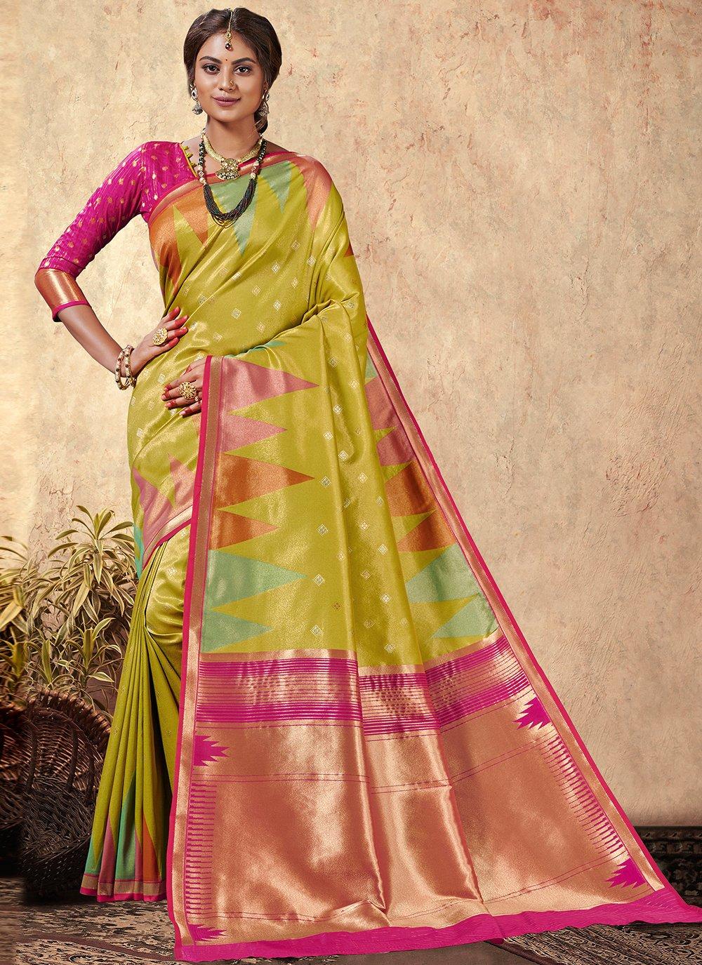 Multi Colour Weaving Designer Saree