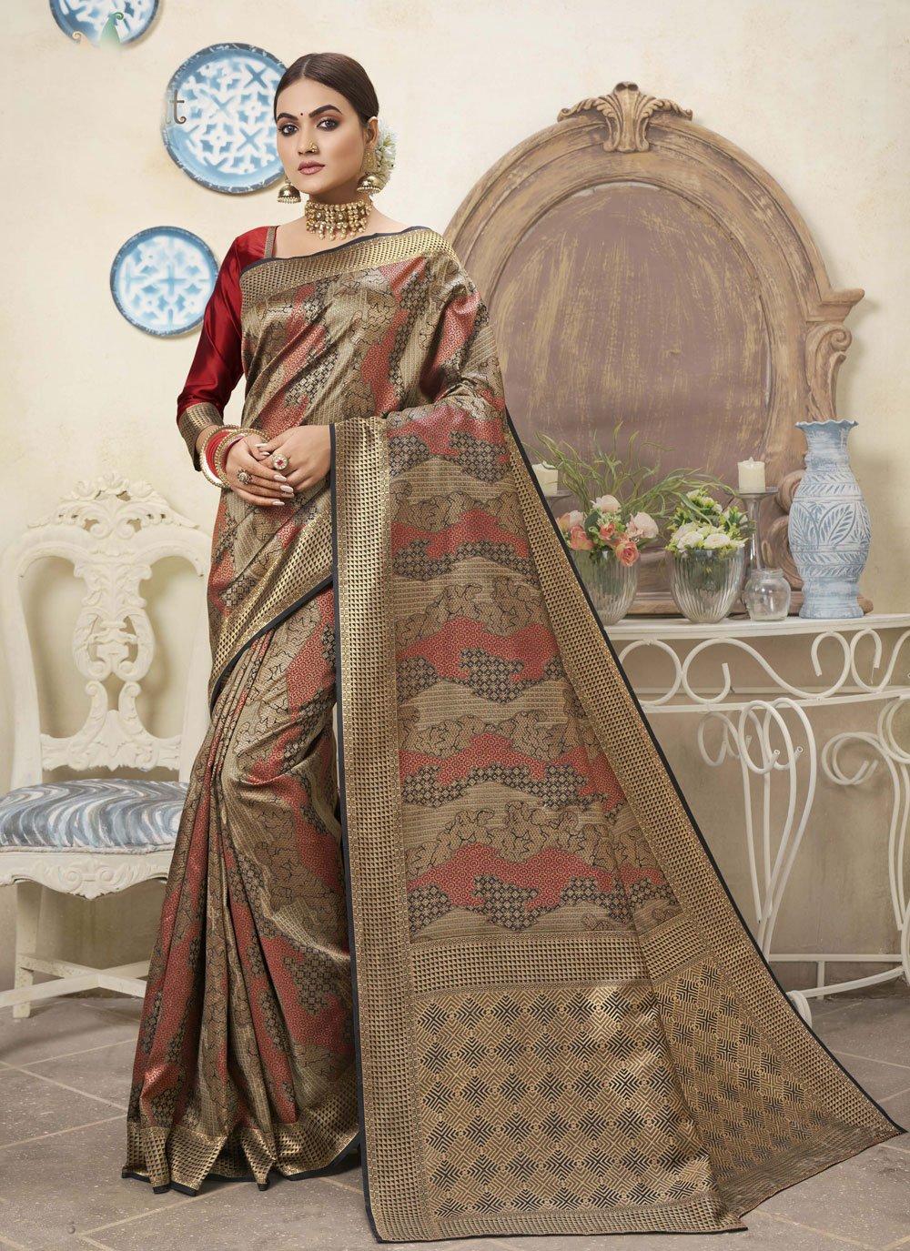 Multi Colour Weaving Designer Traditional Saree