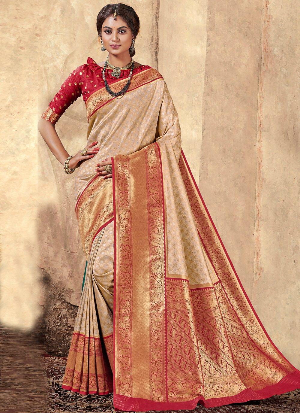 Multi Colour Weaving Party Classic Saree