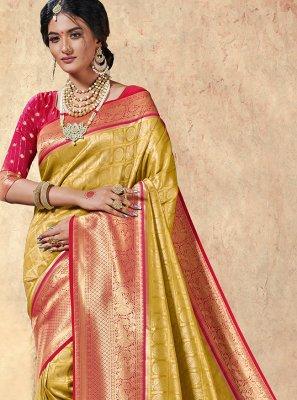 Multi Colour Weaving Silk Classic Saree