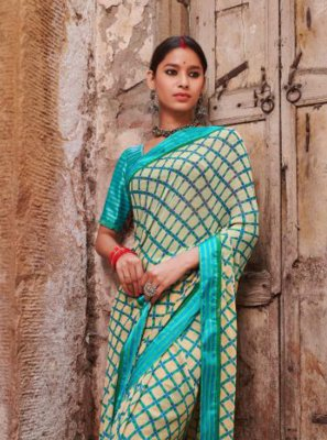 Multi Colour Weight Less Party Casual Saree