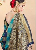 Multi Colour Woven Festival Designer Traditional Saree