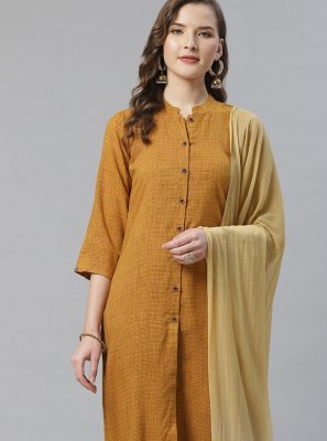 Mustard Bollywood Salwar Kameez