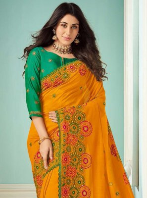 Mustard Color Bollywood Saree