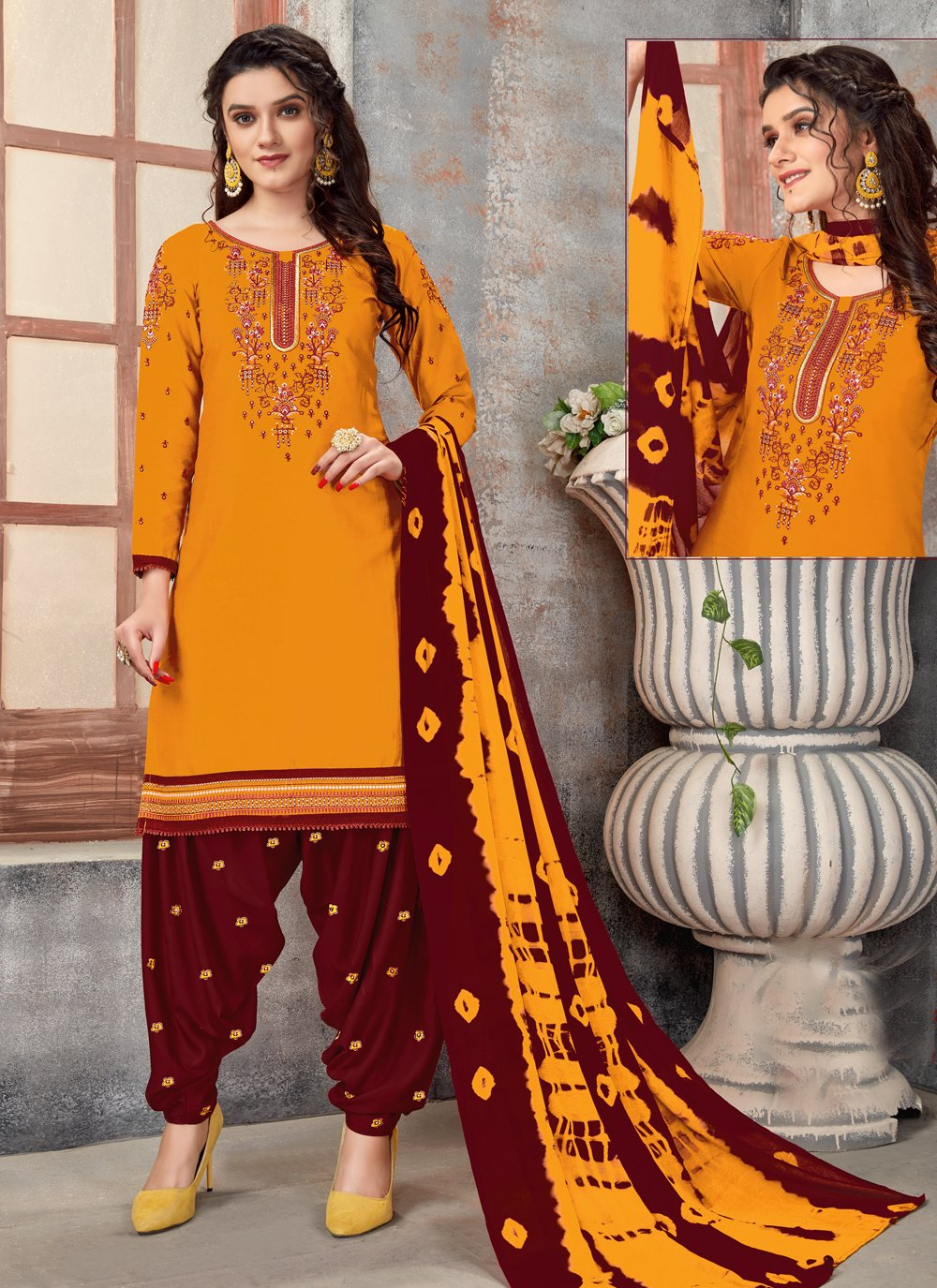 Mustard Color Designer Patiala Suit