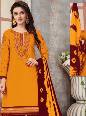 Mustard Color Designer Patiala Suit