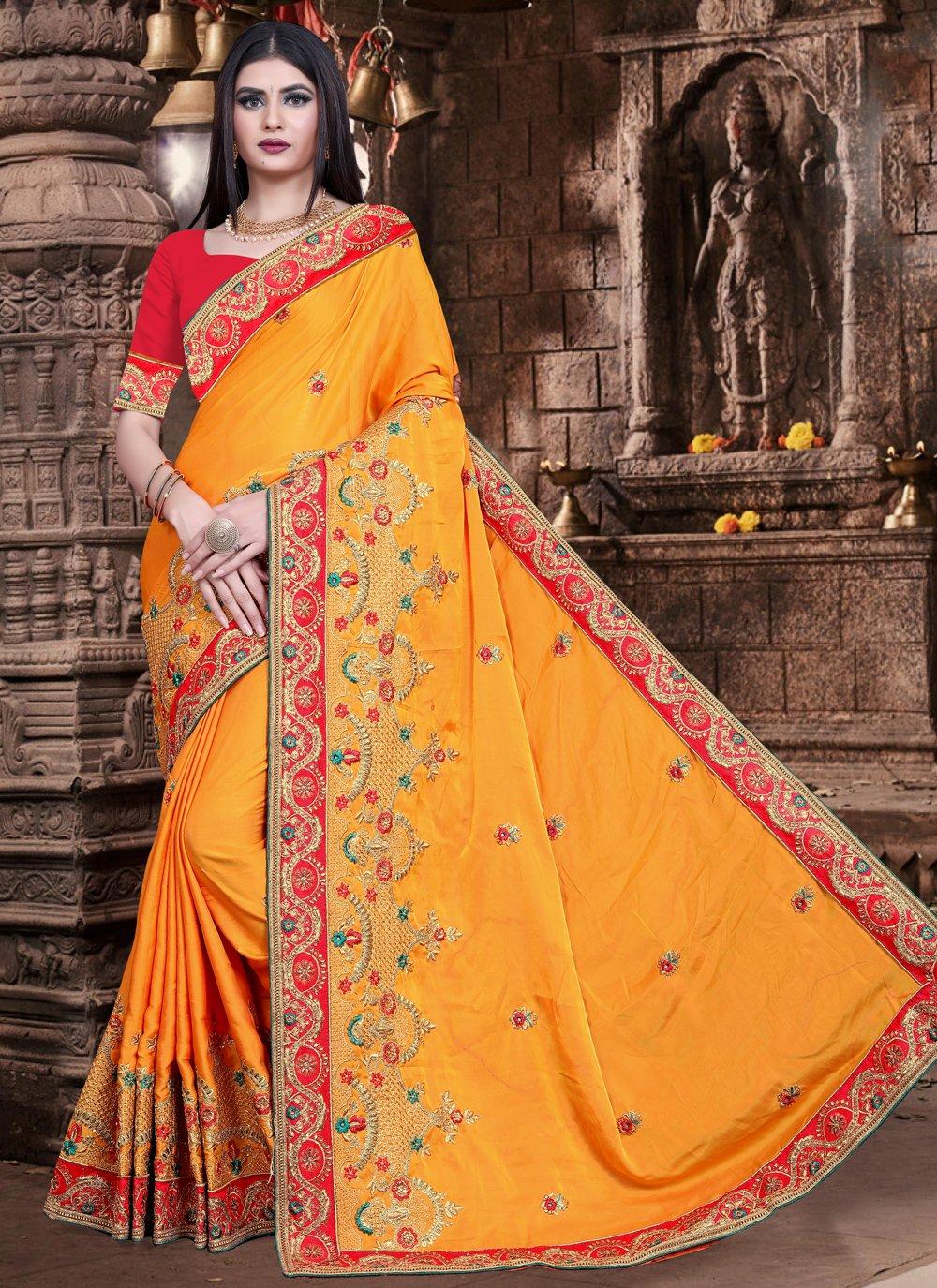 Mustard Color Trendy Saree