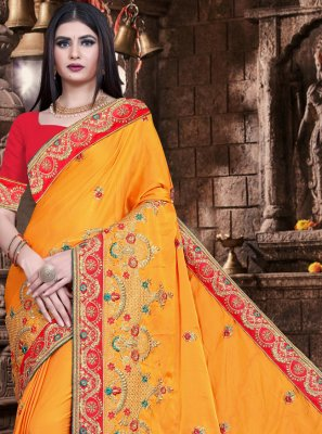 Mustard Color Trendy Saree