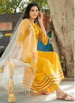 Mustard Designer Salwar Kameez