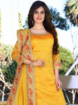 Mustard Festival Readymade Suit