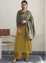 Mustard Festival Silk Designer Pakistani Suit