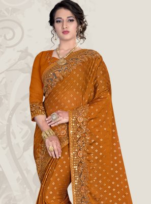 Mustard Patch Border Traditional Designer Saree