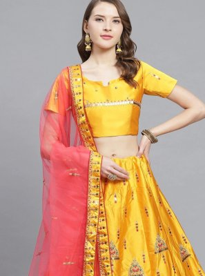 Mustard Reception Bollywood Lehenga Choli