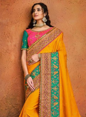 Mustard Sangeet Traditional Designer Saree