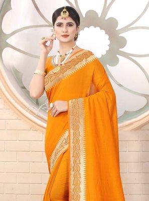 Mustard Silk Festival Classic Designer Saree