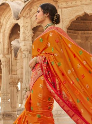 Mustard Silk Sangeet Designer Traditional Saree