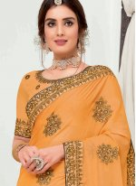 Mustard Traditional Designer Saree