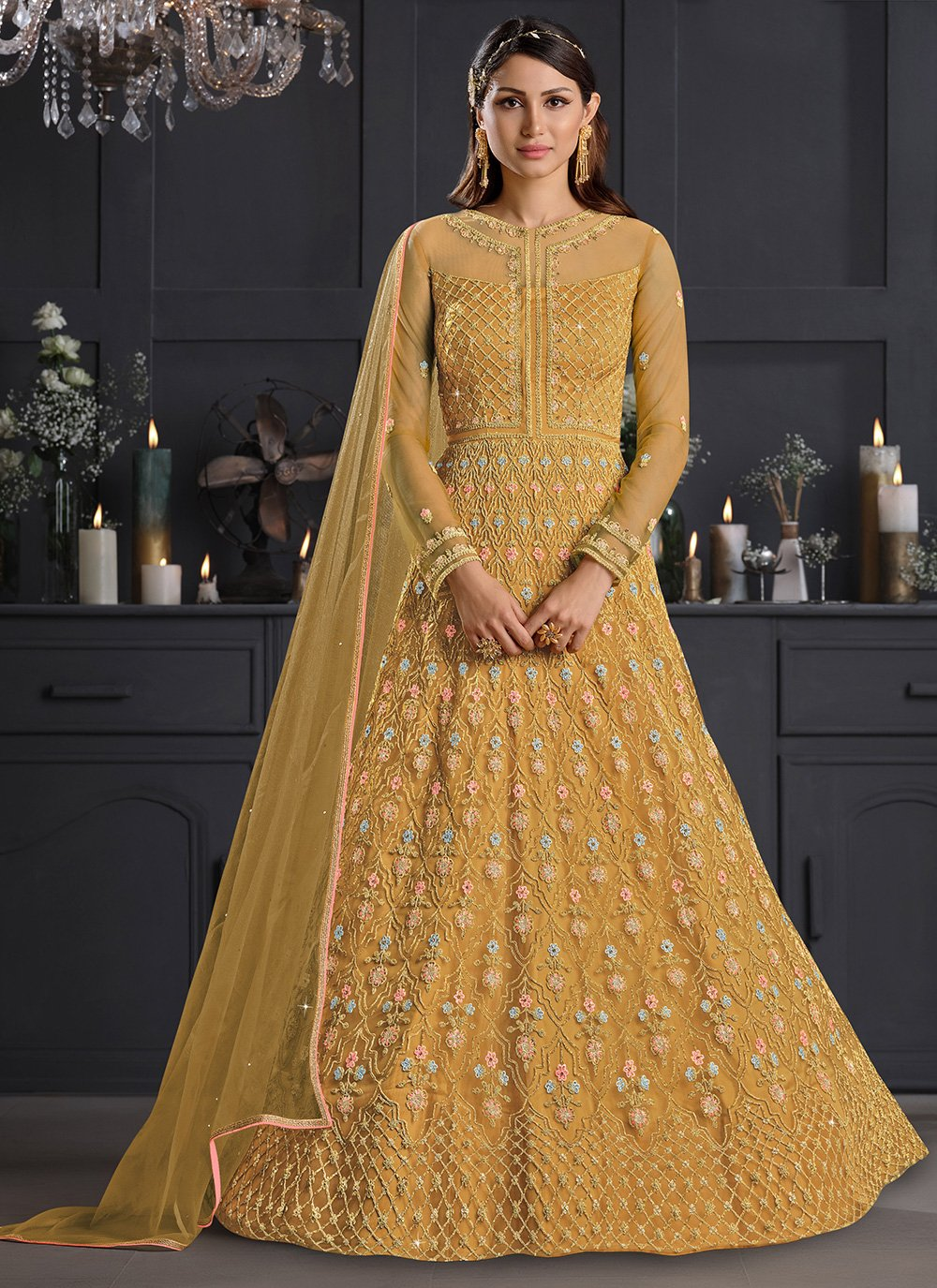 Mustard Wedding Salwar Suit