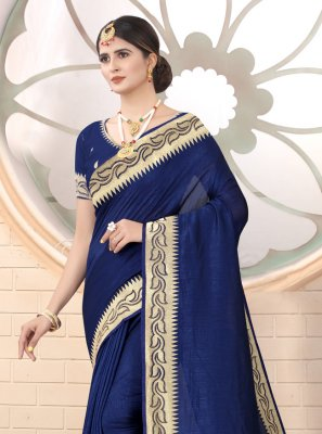 Navy Blue Ceremonial Silk Classic Saree