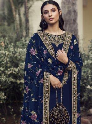 Navy Blue Color Designer Pakistani Suit