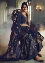 Navy Blue Designer Pakistani Suit