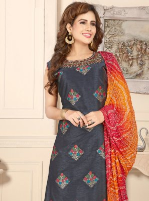 Navy Blue Fancy Sangeet Readymade Suit
