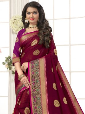 Navy Blue Festival Cotton Silk Traditional Saree