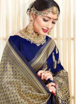 Navy Blue Festival Traditional Saree