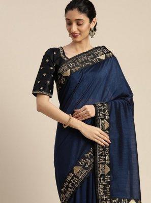 Navy Blue Sangeet Classic Designer Saree