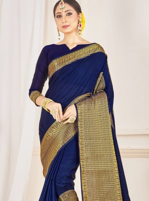 Navy Blue Traditional Saree