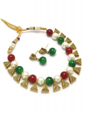 Necklace Set Moti in Multi Colour