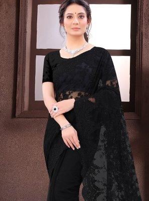 Net Black Bollywood Saree