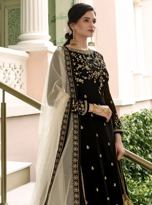 Net Black Designer Long Lehenga Choli