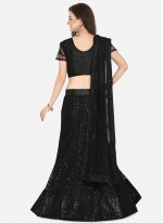 Net Black Sequins Lehenga Choli