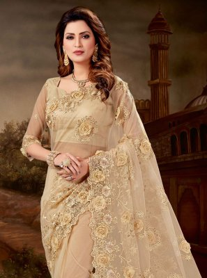Net Embroidered Classic Designer Saree