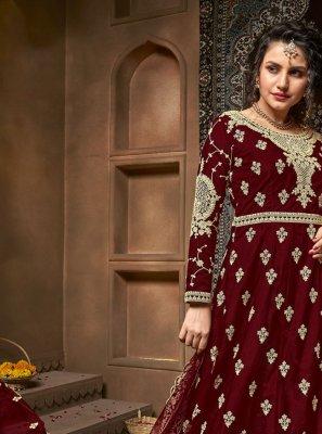 Net Embroidered Designer Salwar Kameez