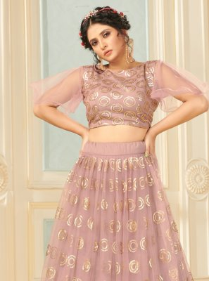 Net Fancy Mauve  Lehenga Choli