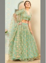 Net Fancy Sea Green Lehenga Choli