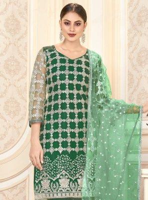 Net Green Designer Salwar Suit